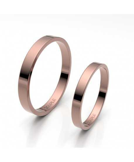Alianza Clásica Plana Oro 18K rosa en...