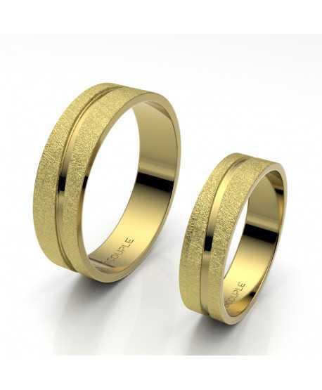 Alianza Trend Plana Oro Amarillo de 5mm